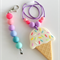 Washable Silicone Necklace for Kids - Ice Cream Necklace Gift Set
